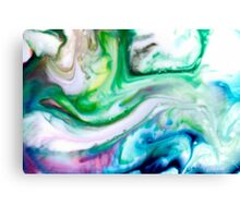 Green Blue Purple Yellow White Swirl Abstract Canvas Print
