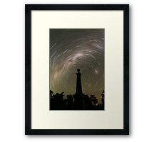 Startrails from the grave! Framed Print
