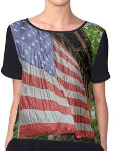 American Pride Chiffon Top