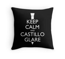 Keep Calm and Castillo Glare Pillow (black) Throw Pillow