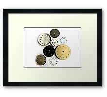 Clocks! Framed Print
