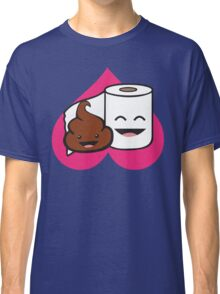 Poop and Toilet Paper Roll (Perfect Match) Classic T-Shirt