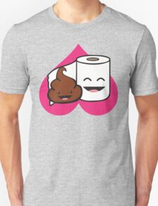 Poop and Toilet Paper Roll (Perfect Match) Unisex T-Shirt