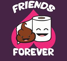 Friends Forever - Poop and Toilet Paper Roll Womens Fitted T-Shirt