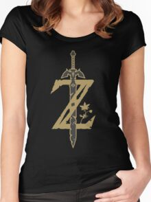 Zelda Breath of the Wild (Black) Women's Fitted Scoop T-Shirt