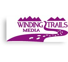 Winding Trails Media Purple Logo Canvas Print