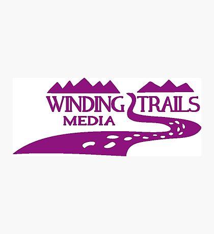 Winding Trails Media Purple Logo Photographic Print