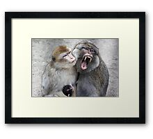 Daddy Protects His Family Framed Print