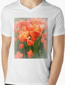 High Key Tulips Mens V-Neck T-Shirt