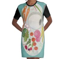 Winter Salad Graphic T-Shirt Dress