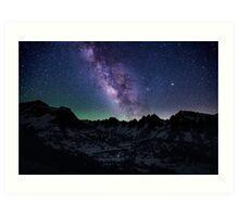 Milky Way over the Sierras Art Print