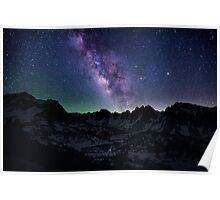 Milky Way over the Sierras Poster