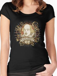 William Shakespeare Crest  Women's Fitted Scoop T-Shirt