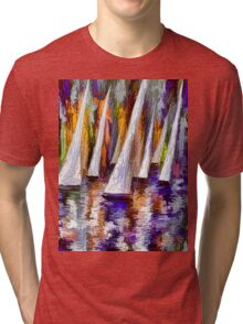 Wind on Sails Panorama by Lena Owens Tri-blend T-Shirt