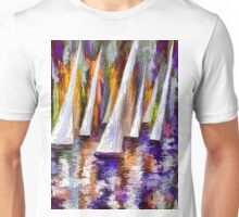 Wind on Sails Panorama by Lena Owens Unisex T-Shirt