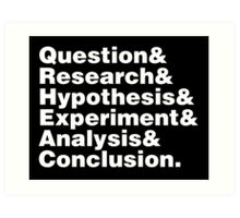 Scientific Method Helvetica Art Print