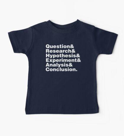 Scientific Method Helvetica Baby Tee