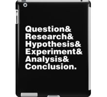 Scientific Method Helvetica iPad Case/Skin