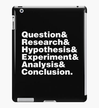 Scientific Method Helvetica iPad Case/Skin