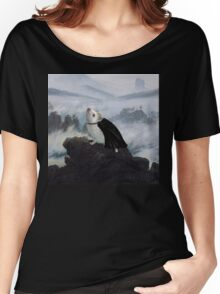Hedgehog Above a Sea of Fog  Women's Relaxed Fit T-Shirt