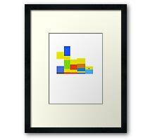 8-bit Simpsons family Framed Print