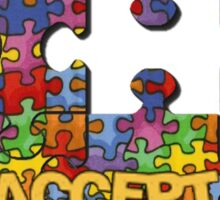 Autism Awareness Puzzle Heart Sticker