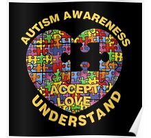 Autism Awareness Puzzle Heart Poster