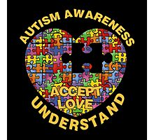 Autism Awareness Puzzle Heart Photographic Print