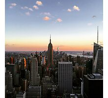 Sunset in NYC Photographic Print