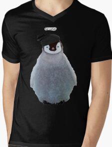 Penguin Beanie Mens V-Neck T-Shirt
