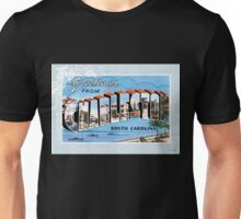 Charleston South Carolina Vintage Souvenir Greeting Post Card Unisex T-Shirt
