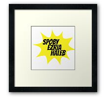 PLL Couples-Yellow Framed Print