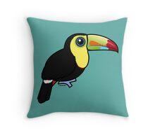 Birdorable Keel-billed Toucan Throw Pillow