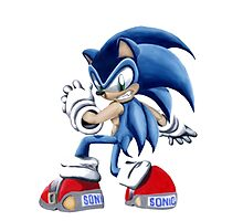 The Blue Blur, SONIC THE HEDGEHOG!! Photographic Print