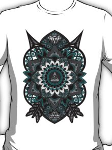 Corrupted Flower of Life (Blue) T-Shirt