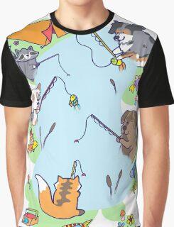 Dog gone Fishin' Graphic T-Shirt