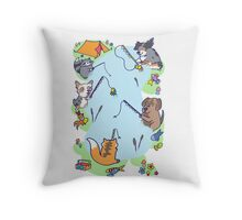 Dog gone Fishin' Throw Pillow