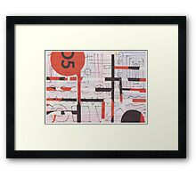 Asemic Suprematist Framed Print