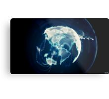 Planet Earth Particle Hologram Metal Print