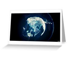Planet Earth Particle Hologram Greeting Card