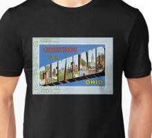 Cleveland Ohio Vintage Souvenir Greeting Post Card Unisex T-Shirt