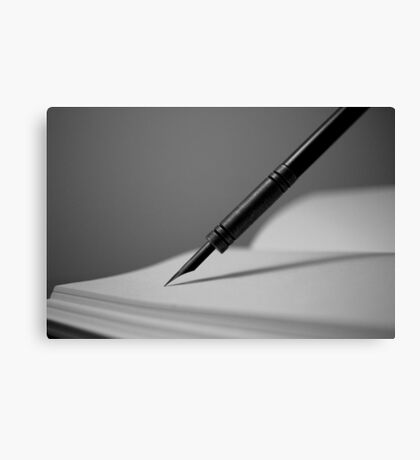 Quill in Black & White Canvas Print