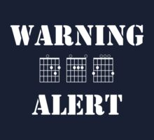 Warning, DAG alert (White) by dattshirtguy