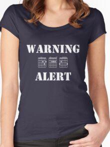 Warning, DAG alert (White) Women's Fitted Scoop T-Shirt