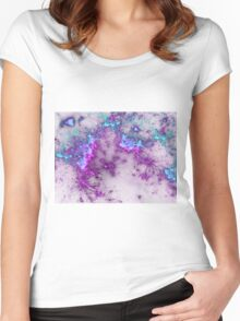 Violet Fireworks - Abstract Fractal Artwork Women's Fitted Scoop T-Shirt