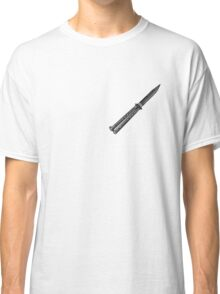 Black Butterfly Knife  Classic T-Shirt