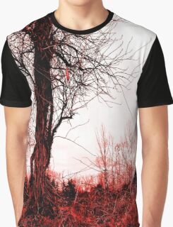 Eerie in Red Graphic T-Shirt