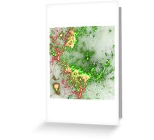 Green Fireworks - Abstract Fractal Artwork Greeting Card