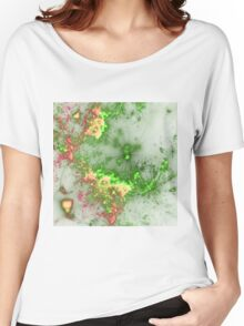 Green Fireworks - Abstract Fractal Artwork Women's Relaxed Fit T-Shirt