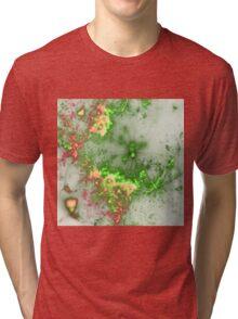 Green Fireworks - Abstract Fractal Artwork Tri-blend T-Shirt